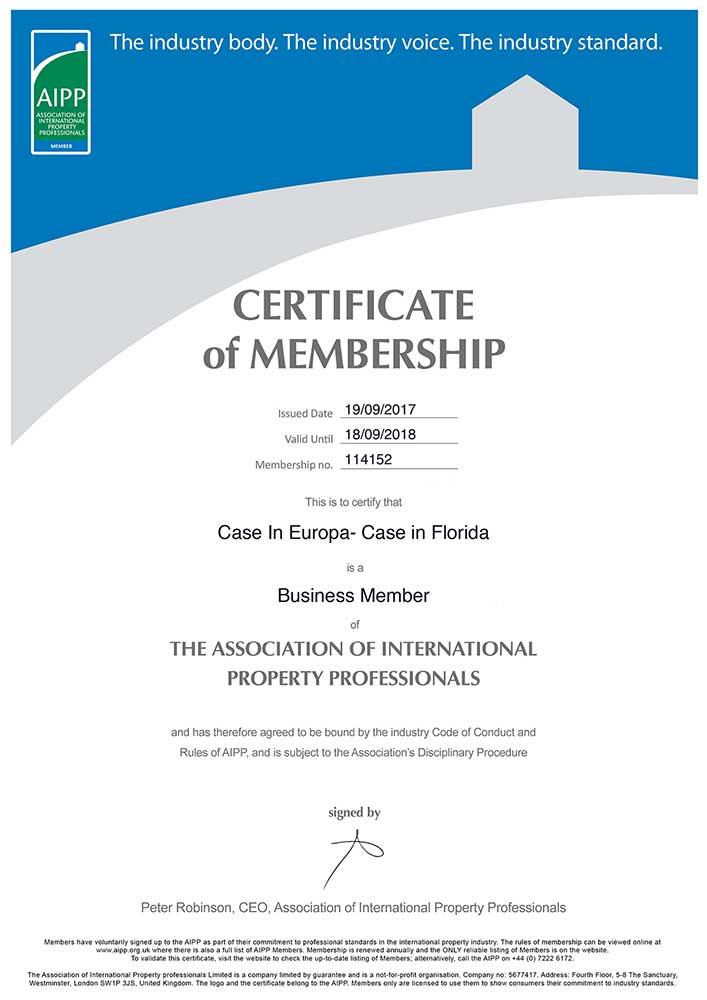 certificato AIPP